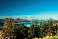 Looking along Loch Garry and Glen Garry, Lochaber, Highland