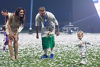 Real Madrid Sergio Ramos with his girlfriend Pilar Rubio and kids during the celebration of the 12th UEFA Championship won by Real Madrid  at Santiago Bernabeu Stadium in Madrid, June 04, 2017. Spain.<br /> Foto ALTERPHOTOS/BorjaB.Hojas/Insidefoto