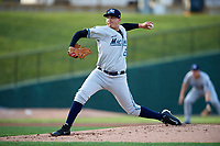 West Michigan Whitecaps starting pitcher Eudis Idrogo (26) delivers a pitch during a game against the Peoria Chiefs on May 9, 2017 at Dozer Park in Peoria, Illinois.  Peoria defeated West Michigan 3-1.  (Mike Janes/Four Seam Images)