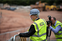 Pictured: Sir Terry Matthews. Friday 23 June 2017<br /> Re: First Minister for Wales Carwyn Jones has joined Sir Terry Matthews, Chairman of the Celtic Manor Resort; Stephen Bowcott, Chief Executive of Sisk Group Construction; and Debbie Wilcox, Leader of Newport City Council, to break ground on the site of the new ICC Wales.<br /> Around 80 invited guests from the public and private sectors of the events industry have also witnessed the ground breaking ceremony which marks the official start of the construction of the new venue, due to open in 2019.<br /> The dignitaries will use commemorative spades to symbolically dig the first ground on the new site, marking the start of building work in earnest.