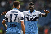 Ciro Immobile of Lazio celebrates with Felipe Caicedo after scoring a goal during the Serie A 2018/2019 football match between SS Lazio and Spal at stadio Olimpico, Roma, November 04, 2018 <br />  Foto Andrea Staccioli / Insidefoto