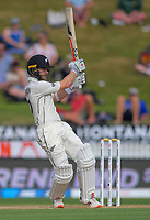 NZ captain Kane Williamson bats during day four of the international cricket 2nd test match between NZ Black Caps and England at Seddon Park in Hamilton, New Zealand on Friday, 22 November 2019. Photo: Dave Lintott / lintottphoto.co.nz