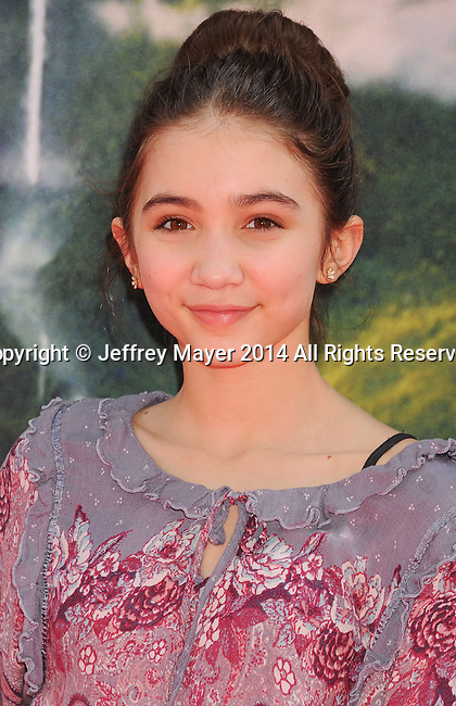 BURBANK, CA- MARCH 22: Actress Rowan Blanchard attends the premiere of DisneyToon Studios' 'The Pirate Fairy' at Walt Disney Studios on March 22, 2014 in Burbank, California.