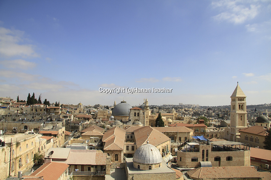 Israel, Jerusalem, the view from the Maronite Patriarchal Exarchate
