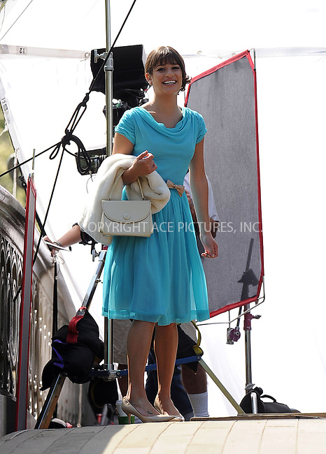 WWW.ACEPIXS.COM . . . . . ....April 26 2011, New York City....Actress Lea Michele on the Central Park set of the hit TV show 'Glee' on April 26 2011 in New York City....Please byline: KRISTIN CALLAHAN - ACEPIXS.COM.. . . . . . ..Ace Pictures, Inc:  ..(212) 243-8787 or (646) 679 0430..e-mail: picturedesk@acepixs.com..web: http://www.acepixs.com