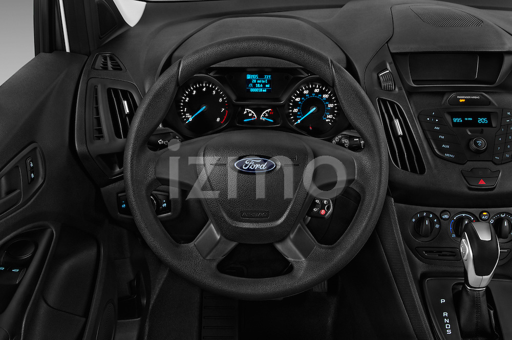 Car pictures of steering wheel view of a 2016 Ford Transit-Connect Van-XL-SWB-(Rear-Liftgate) 5 Door Mini MPV Steering Wheel