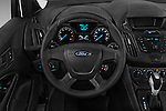 Car pictures of steering wheel view of a 2018 Ford Transit-Connect Van-XL-SWB-(Rear-Liftgate) 5 Door Mini MPV Steering Wheel