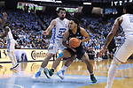 CHAPEL HILL, NC - DECEMBER 03: Tulane's Caleb Daniels (10) and North Carolina's Luke Maye (32). The University of North Carolina Tar Heels hosted the Tulane University Green Wave on December 3, 2017 at Dean E. Smith Center in Chapel Hill, NC in a Division I men's college basketball game. UNC won the game 97-73.