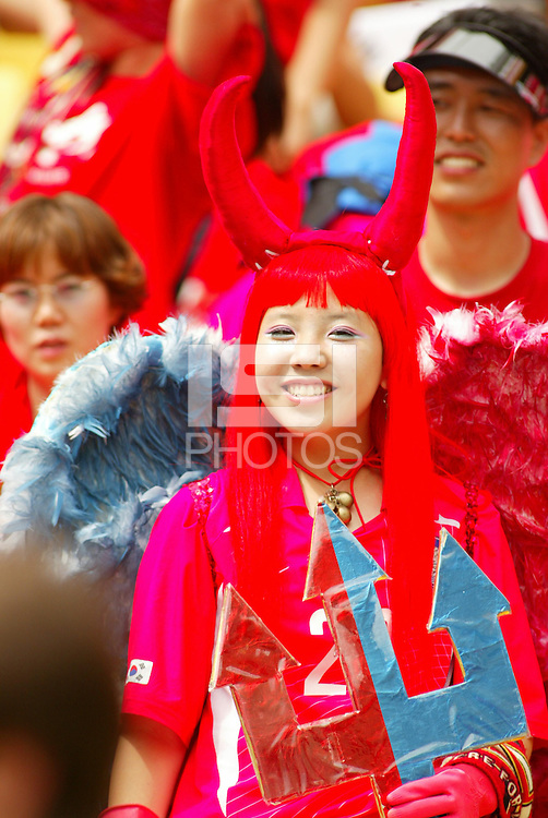 South Korean fans. The USA tied South Korea, 1-1, during the FIFA World Cup 2002 in Daegu, Korea.