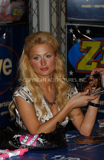 WWW.ACEPIXS.COM . . . . . ....August 16, 2006, New York City. ....Paris Hilton attends a signing of her new CD held at the FYE Rockefeller Center Store. ....Please byline: KRISTIN CALLAHAN - ACEPIXS.COM.. . . . . . ..Ace Pictures, Inc:  ..(212) 243-8787 or (646) 769 0430..e-mail: info@acepixs.com..web: http://www.acepixs.com