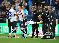 Preston North End's Josh Harrop comes on to replace David Nugent<br /> <br /> Photographer Kevin Barnes/CameraSport<br /> <br /> The EFL Sky Bet Championship - Preston North End v Barnsley - Saturday 5th October 2019 - Deepdale Stadium - Preston<br /> <br /> World Copyright © 2019 CameraSport. All rights reserved. 43 Linden Ave. Countesthorpe. Leicester. England. LE8 5PG - Tel: +44 (0) 116 277 4147 - admin@camerasport.com - www.camerasport.com