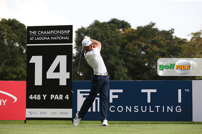 Tommy Fleetwood (ENG) possibly tipped as favourite this week, dropped just one shot for a 68 during Round One of the The Championship 2014 from the Laguna National Golf & Country Club, Tampines, Singapore. Picture:  David Lloyd / www.golffile.ie