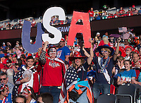 Ottawa, Canada - June 26, 2015:  The USWNT defeated China during their quarterfinal game in the FIFA Women's World Cup at Ottawa Stadium