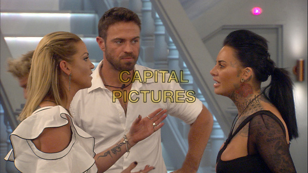 Celebrity Big Brother 2017<br /> Sarah Harding, Chad Johnson and Jemma Lucy.<br /> *Editorial Use Only*<br /> CAP/KFS<br /> Image supplied by Capital Pictures