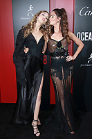 NEW YORK, NY - JUNE 5: Gigi Hadid and Lily Aldridge at Ocean&rsquo;s 8 World Premiere at Alice Tully Hall on June 5, 2018 in New York City. <br /> CAP/MPI99<br /> &copy;MPI99/Capital Pictures