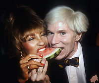 Tina Turner and Andy Warhol 1981<br /> Photo By Adam Scull/PHOTOlink.net /MediaPunch