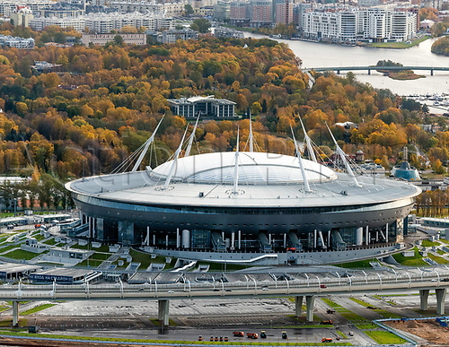 2018, Saint Petersburg, Russia. Saint Petersburg Stadium (also called Krestovsky Stadium, Zenit Arena, Saint Petersburg Arena), which will host the 2018 FIFA World Cup matches.