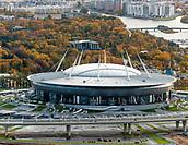 2018, Saint Petersburg, Russia. Saint Petersburg Stadium (also called Krestovsky Stadium, Zenit Arena, Saint Petersburg Arena), which will host the 2018 FIFA World Cup matches.