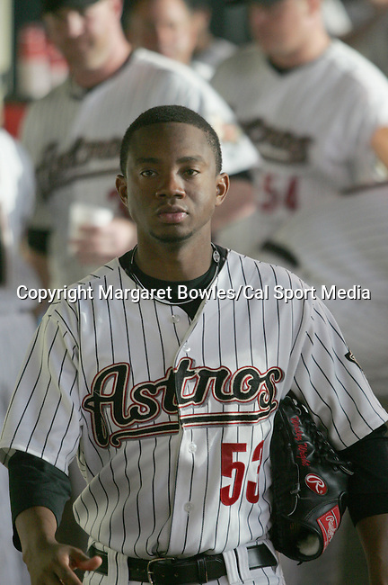 July 22, 2009: Houston Astros relief pitcher Wesley Wright waits in the dugout for the game to begin.  The Houston Astros defeated the St. Louis Cardinals 4-3 at Minute Maid Park in Houston, Texas. Margaret Bowles/CSM