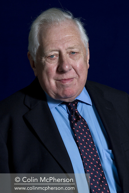 Veteran British Labour Party politician and peer, Lord Roy Hattersley, pictured at the Edinburgh International Book Festival where he gave a lecture on current politics in the UK. The three-week event is the world's biggest literary festival and is held during the annual Edinburgh Festival. The 2012 event featured talks and presentations by more than 500 authors from around the world.