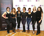 """Sara Shepard, Alysha Deslorieux,Yasmeen Sulieman, Ashley Blanchet,TyNia Brandon, Dana Costello and Ashley Loren attend the Meet the Cast of The MCP Production of """"The Scarlet Pimpernel"""" at Pearl Rehearsal studio Theatre on February 14, 2019 in New York City."""