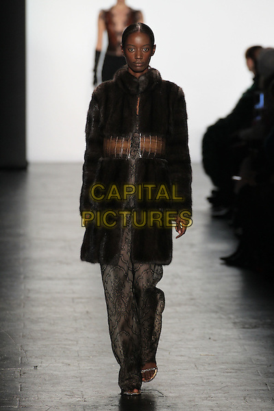 DENNIS BASSO<br /> New York Fashion Week<br /> Ready to Wear<br /> Fall Winter 16/17<br /> in New York, USA February 16, 2015.<br /> CAP/GOL<br /> &copy;GOL/Capital Pictures