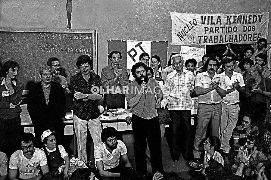 Primeiro Encontro Nacional do PT no Sedes Sapientes. SP. 1980. Foto de Juca Martins.