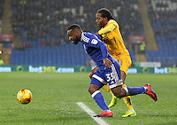 Daniel Johnson of Preston North End fouls Junior Hoilett of Cardiff City leading to a penalty during the Sky Bet Championship match between Cardiff City and Preston North End at Cardiff City Stadium, Wales, UK. Tuesday 31 January 2017