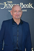 LOS ANGELES, CA. April 4, 2016. Actor Sir Ben Kingsley at the world premiere of &quot;The Jungle Book&quot; at the El Capitan Theatre, Hollywood.<br /> Picture: Paul Smith / Featureflash