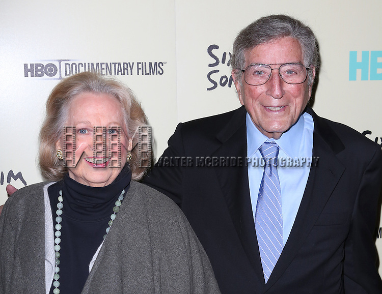 Barbara Cook & Tony Bennett  attending the Premiere Screening of HBO's 'Six By Sondheim' at The Museum Of Modern Art in New York City on November 18, 2013.