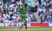 June 18th 2017, The Kia Oval, London, England;  ICC Champions Trophy Cricket Final; India versus Pakistan; Babar Azam of Pakistan plays the ball for 4