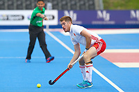 Henry Weir of England during the Hockey World League Semi-Final match between England and Netherlands at the Olympic Park, London, England on 24 June 2017. Photo by Steve McCarthy.