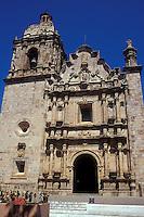 The 18th-century Church of San Sebastian in the Spanish colonial mining town of Concordia near Mazatlan, Sinaloa, Mexico