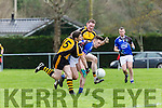 Liebherr's  Jamie Doolin sand  stop Intel in the All Ireland Inter Firm final in Fossa on Saturday