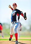 1 March 2010: Washington Nationals' starting pitcher Stephen Strasburg takes practice during Spring Training at the Carl Barger Baseball Complex in Viera, Florida. Mandatory Credit: Ed Wolfstein Photo