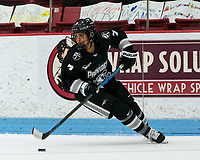 BOSTON, MA - JANUARY 11: Whitney Dove #7 of Providence College brings the puck forward during a game between Providence College and Boston University at Walter Brown Arena on January 11, 2020 in Boston, Massachusetts.