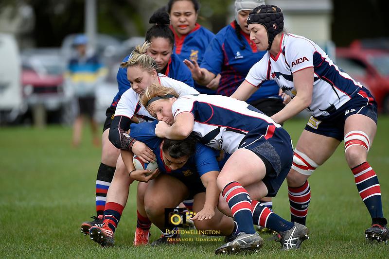 Action from the Women's Rugby - Wellington Maori Women v Tasman at Petone Rec, Petone, Lower Hutt, New Zealand on Saturday  26 September 2015.<br /> Photo by Masanori Udagawa. www.photowellington.photoshelter.com.