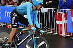 Andrey Zeits (KAZ) Astana in action during Stage 1, a 14km individual time trial around Dusseldorf, of the 104th edition of the Tour de France 2017, Dusseldorf, Germany. 1st July 2017.<br /> Picture: Eoin Clarke | Cyclefile<br /> <br /> <br /> All photos usage must carry mandatory copyright credit (&copy; Cyclefile | Eoin Clarke)