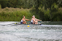 Race: 160  W.2x (Band 3)  Final<br /> <br /> Peterborough Summer Regatta 2018 - Sunday<br /> <br /> To purchase this photo, or to see pricing information for Prints and Downloads, click the blue 'Add to Cart' button at the top-right of the page.