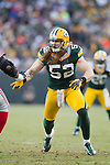 Green Bay Packers linebacker Clay Matthews (52) plays defense during an NFL divisional playoff football game against the New York Giants on January 15, 2012 in Green Bay, Wisconsin. The Giants won 37-20. (AP Photo/David Stluka)