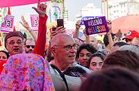 SÃO PAULO, SP, 29.09.2019 - PROTESTO-SP - Eduardo Suplicy (PT) durante protesto contra o candidato Jair Bolsonaro do PSL à presidência do Brasil no protesto Mulheres contra Bolsonaro, no Largo da Batata, região Oeste de São Paulo neste sábado, 29. (Foto: Anderson Lira/Brazil Photo Press)