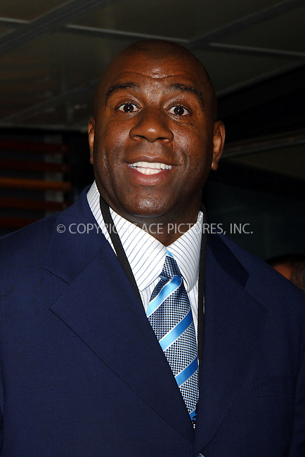 """WWW.ACEPIXS.COM . . . . . ....NEW YORK, APRIL 11, 2006....Earvin """"Magic"""" Johnson at the 2006/2007 TBS and TNT UpFront.....Please byline: KRISTIN CALLAHAN - ACEPIXS.COM.. . . . . . ..Ace Pictures, Inc:  ..(212) 243-8787 or (646) 679 0430..e-mail: info@acepixs.com..web: http://www.acepixs.com"""