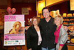 "Guiding Light's Frank Dicopoulos ""Frank Cooper"" poses with Lisa Edmonds and Jenn (of the foundation mentioned below) as they donated their time for Young Women's Breast Cancer Awareness Foundation by going to Pittsburgh, PA on October 7, 2008 and went Pink with Panera. They visited three of 27 Panera Bread locations during the day where 100% of sales from their Pink Ribbon bagels went to the foundation and a portion of those sales all during the month of October. For more information go to www.breastcancerbenefit.org. The day started out with Star 100.7 and the hosts Kate and JR interviewed Frank Dicopoulos. The two actors then went to the CBS studio in Pittsburgh in the morning. The day was a great hit. (Photo by Sue Coflin/Max Photos)"