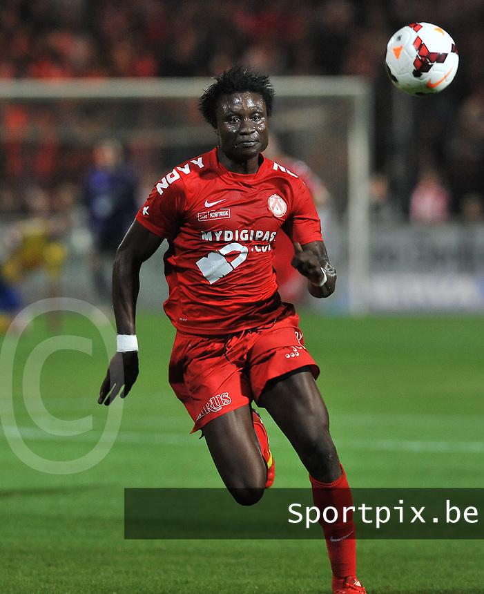 KV Kortrijk - Waasland Beveren : Elimane Coulibaly<br /> foto VDB / Bart Vandenbroucke