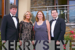Pictured at the Rose Ball at the Dome on Friday night were  Peter and Lorraine McDonnell, Gillian and Adam Egan
