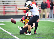 College Park, MD - APR 22, 2016: #3 Adam Greene is good on the extra point during the 2017 Spring game at Capital One Field at Maryland Stadium in College Park, MD. (Photo by Phil Peters/Media Images International)