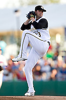 Casey Kelly (23) of the San Antonio Missions delivers a pitch during a game against the North All-Stars 2011 in the Texas League All-Star game at Nelson Wolff Stadium on June 29, 2011 in San Antonio, Texas. (David Welker / Four Seam Images)..