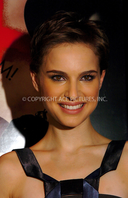 "WWW.ACEPIXS.COM . . . . .  ....NEW YORK, MARCH 13, 2006......Natalie Portman at the premiere of ""V for Vendetta"" held at the Rose Theatre. ....Please byline: AJ Sokalner - ACEPIXS.COM.... *** ***..Ace Pictures, Inc:  ..Philip Vaughan (212) 243-8787 or (646) 769 0430..e-mail: info@acepixs.com..web: http://www.acepixs.com"