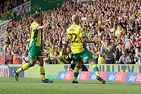 Teemu Pukki of Norwich City celebrates getting the only goal of the game to give Norwich the win during Norwich City vs Middlesbrough, Sky Bet EFL Championship Football at Carrow Road on 15th September 2018