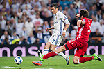 Cristiano Ronaldo of Real Madrid fights for the ball with Mats Hummels of FC Bayern Munich during their 2016-17 UEFA Champions League Quarter-finals second leg match between Real Madrid and FC Bayern Munich at the Estadio Santiago Bernabeu on 18 April 2017 in Madrid, Spain. Photo by Diego Gonzalez Souto / Power Sport Images